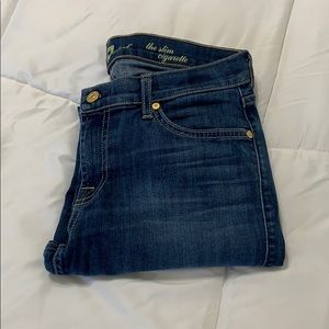 7 FOR ALL MANKIND THE SLIM CIGARETTE ANKLE  JEANS